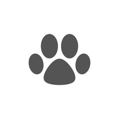 Animal paw silhouette, icon, logo