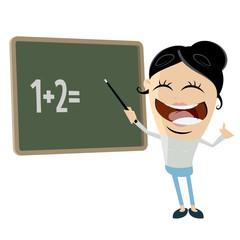 funny cartoon clipart of a female teacher
