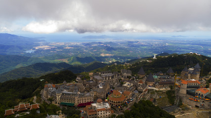 Park on the mountain in vwietnam in the city of Danang. Ba Na Hills Park