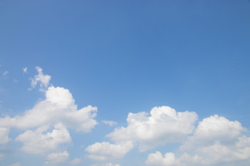 Blue sky background with cloud