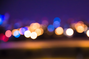 Defocused blur of city lights at night abstract   Wall mural