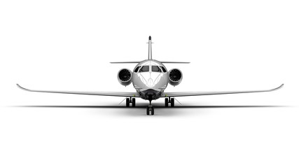 Private jet / 3D render image representing an private jet