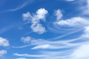 blue sky and cloud for nature background.