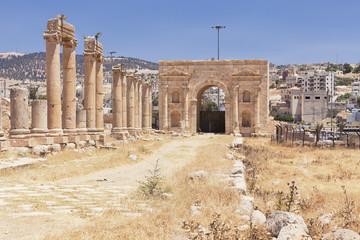 Preserved Roman ruins in Jordan