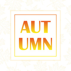 Autumn foliage, banner for your design.