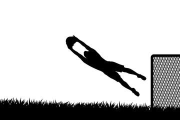 goal keeper silhouette