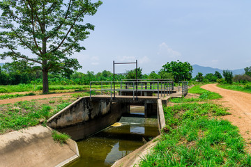 Lack of water in irrigation canal