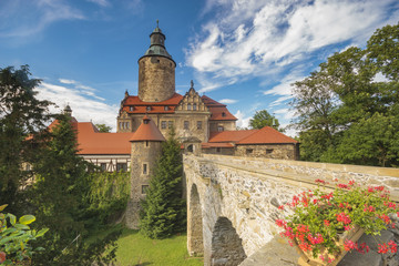 Czocha Castle on a clear summer day, Poland