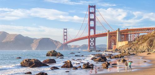 Canvas Prints San Francisco Golden Gate Bridge at sunset, San Francisco, California, USA