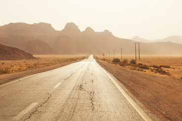 Desert storm in Jordan