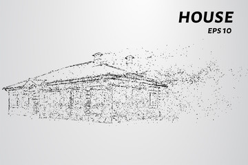 House of particles. The house consists of circles and points.