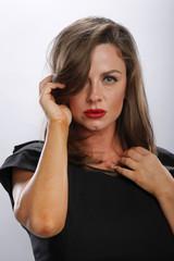 Head shot of an Italian young woman