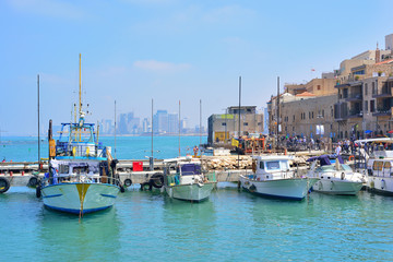 Old town and port of Jaffa of Tel Aviv city, Israel