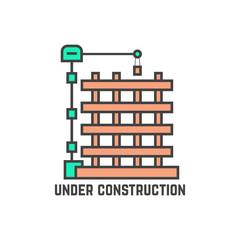 outline building under construction