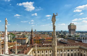 Fototapete - Milan skyline, Italy