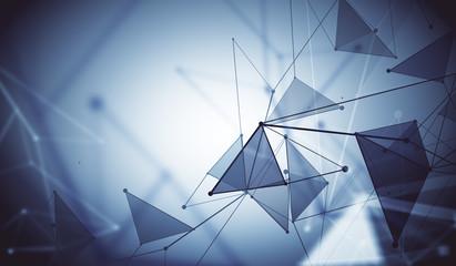Gray polygonal background, technology