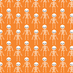 Cute Skeleton Halloween Pattern