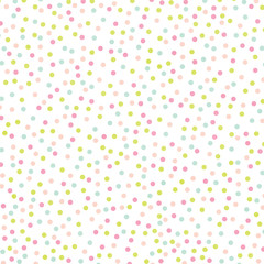 Pastel Rainbow Polka Dot Abstract Watercolor Background Texture