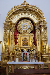 MARBELLA, ANDALUCIA/SPAIN - JULY 6 : Golden Altar in the Church of the Encarnacion in Marbella Spain on July 6, 2017