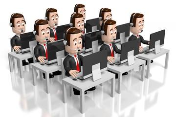 3D call center concept