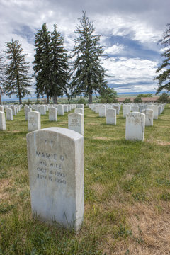 Cemetery at Little bighorn.