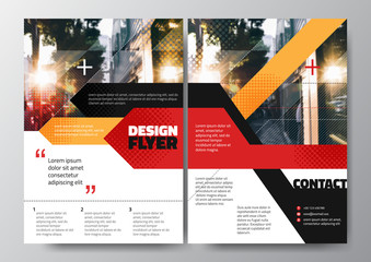 Abstract red black orange stripe for Minimal Poster Brochure Flyer design Layout vector template in A4 size