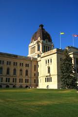 Legislative building located in Wascana Park in Regina, Saskatchewan, Canada on an early summer morning