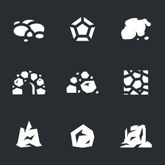 Vector Set of Stone Icons.