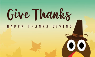 Greeting card Thanksgiving style collection