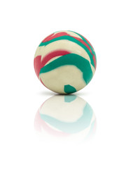 colorful rubber marble ball isolated on white