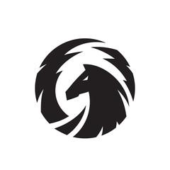 Pegasus vector logo template.