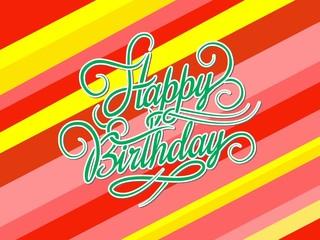 retro happy birthday graphic