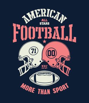 Football Helmet Stylized vector illustration eps 8.