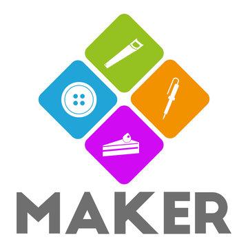 maker and maker space logo design