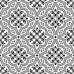 Seamless pattern of Arabic inspiration intricate and floral