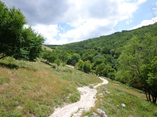 The Crimean Open Spaces, the Ascent to Chufut-Calais