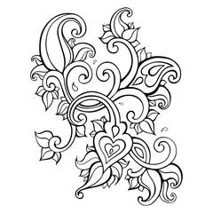 Paisley Ethnic ornament.
