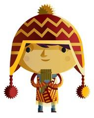 peruvian boy with coyan cap
