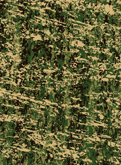 Vector abstract military or hunting camouflage background. Khaki texture.
