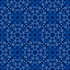 Starry blue pattern
