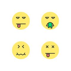 intoxication yellow thin line emoji