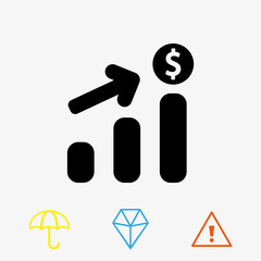 dollar sign icon stock vector illustration