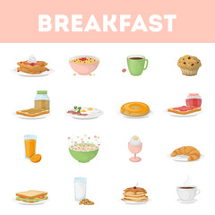 Isolated breakfast set.