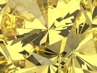 Yellow diamond background texture, 3d