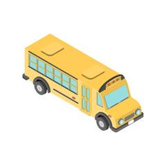 Isometric school bus.