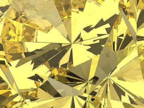 Yellow diamond texture background texture 3d