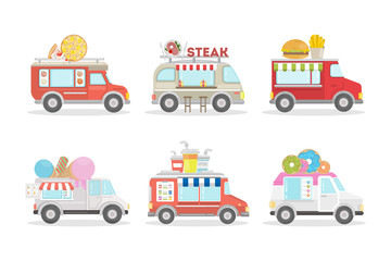 Food vans set.