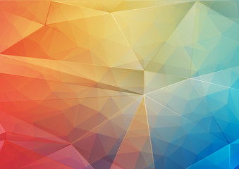 Abstract background with gradient triangle shapes