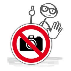 Verbotsschild fotografieren verboten - keine Fotos machen