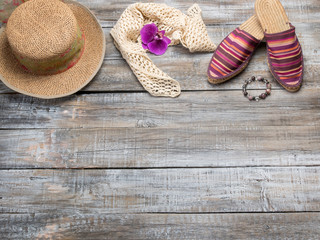 Clothing and accessories for women ready for travel - life style